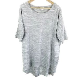 LuLaRoe Heathered Gray Irma Tee Top High Low 1473
